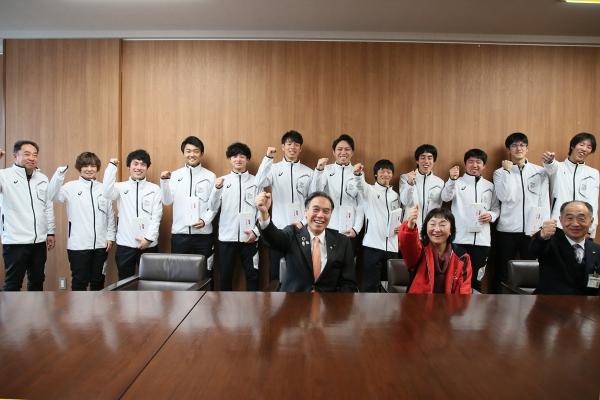 冬季世界大会・アブダビ遠征に向けて長野県知事を表敬訪問しました。