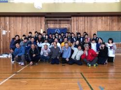 阿智中学校とフロアホッケー交流会を開催しました。