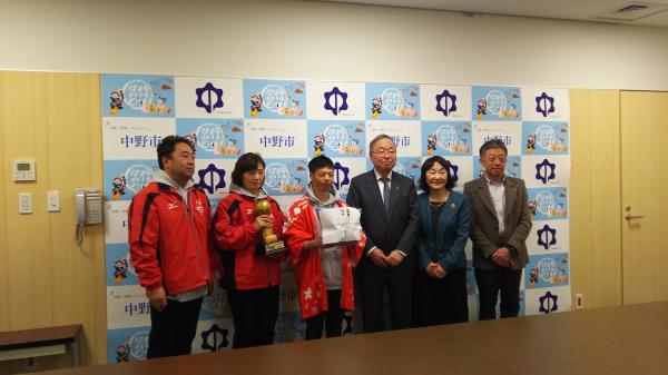 中野市長を表敬訪問しました。