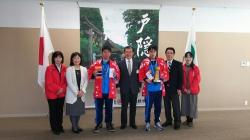 ゴシアカップ準優勝報告で、長野市長を表敬訪問しました。