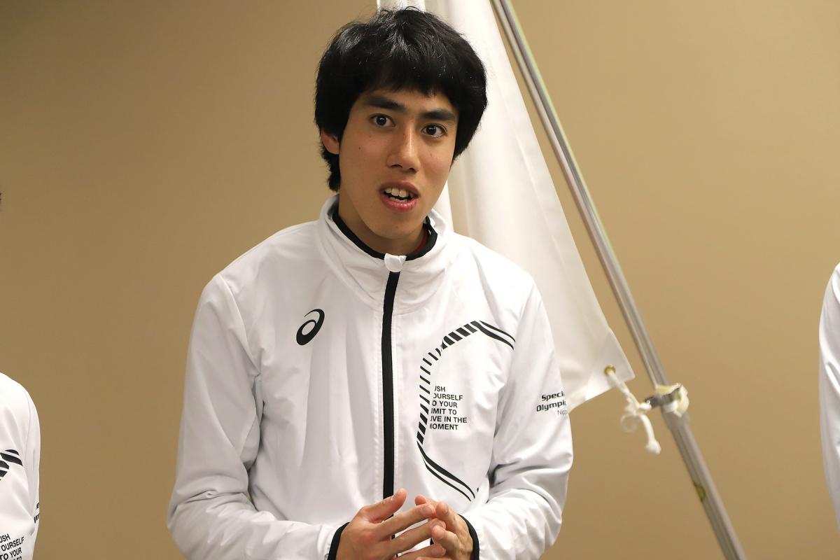 2月19日 大ちゃん このチームでサッカーをする楽しさを話してくれました