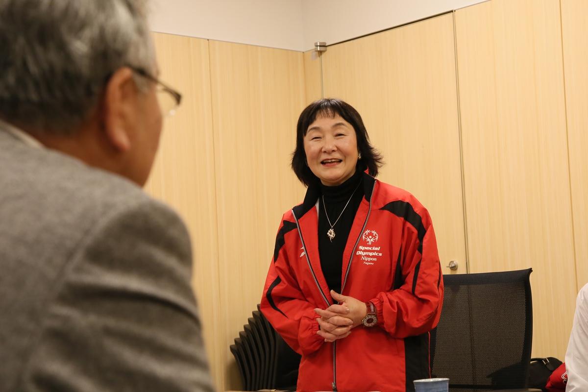 2月18日 中野市訪問 伊澤理事長から経緯を報告