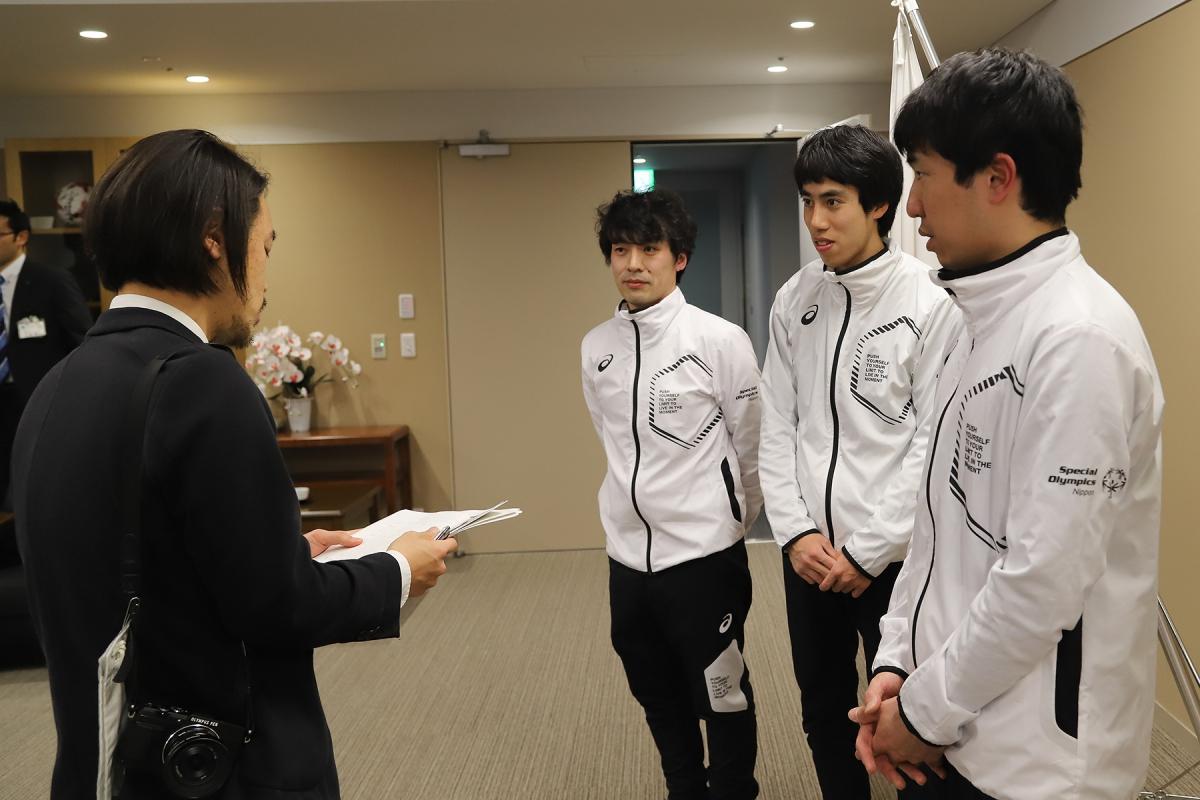 2月19日 長野市訪問 メディア取材に応じます