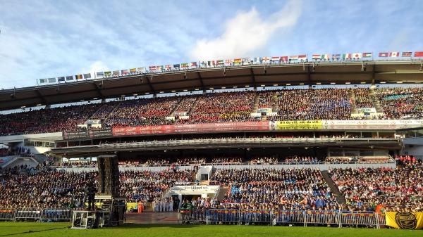 5万人の観客で満員の開会式会場