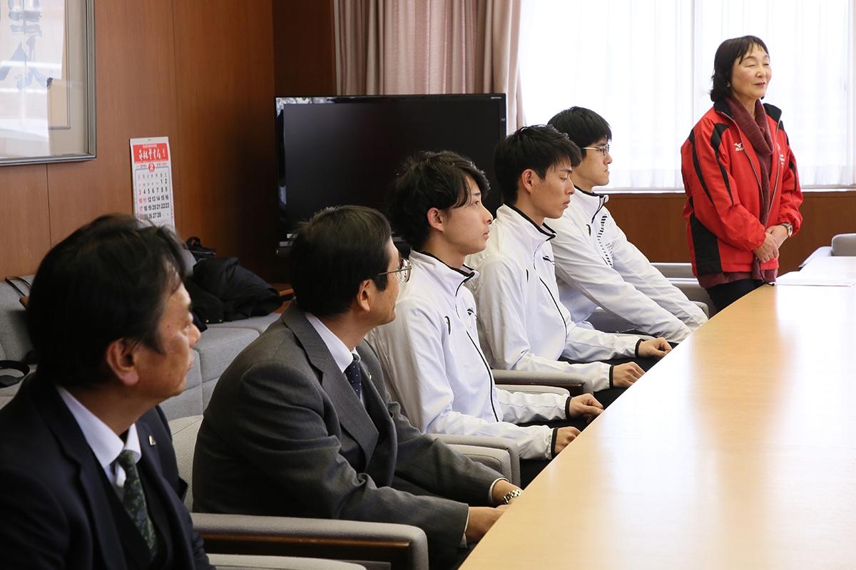 2月14日 上田市訪問 当日はパートナー勤務先の社長も激励に駆けつけてくださいました