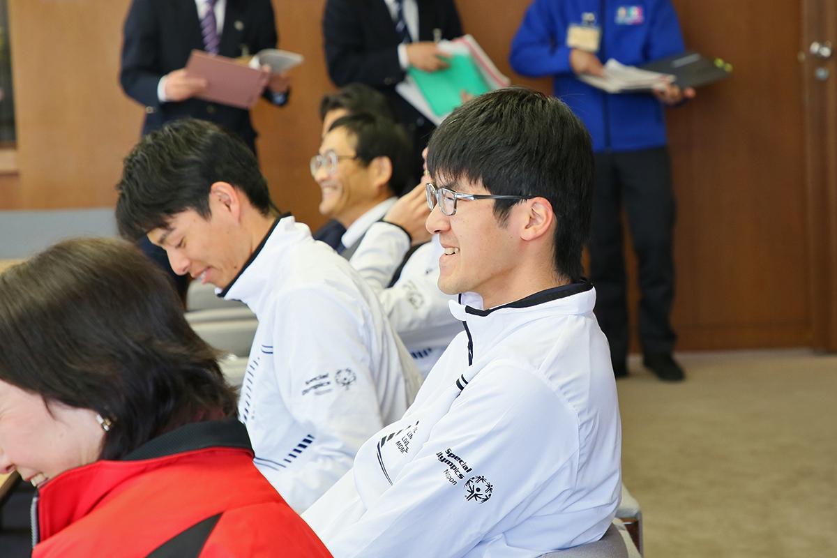 2月14日 上田市訪問 まったく動じない、いつもの笑顔の石ちゃん