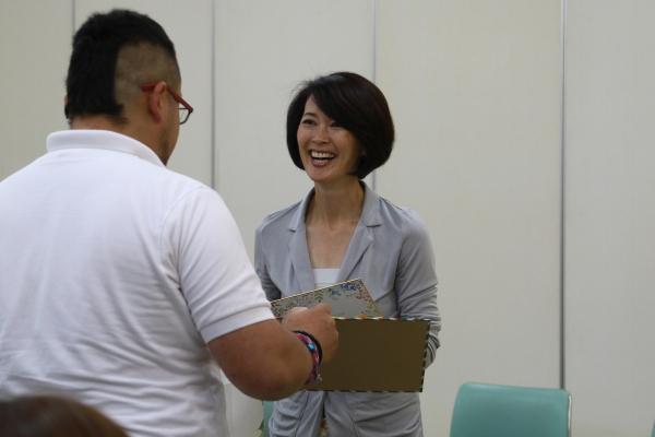 田中くんからの決意表明&手作りプレゼントの贈呈