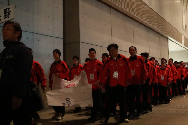 長野選手団の入場です