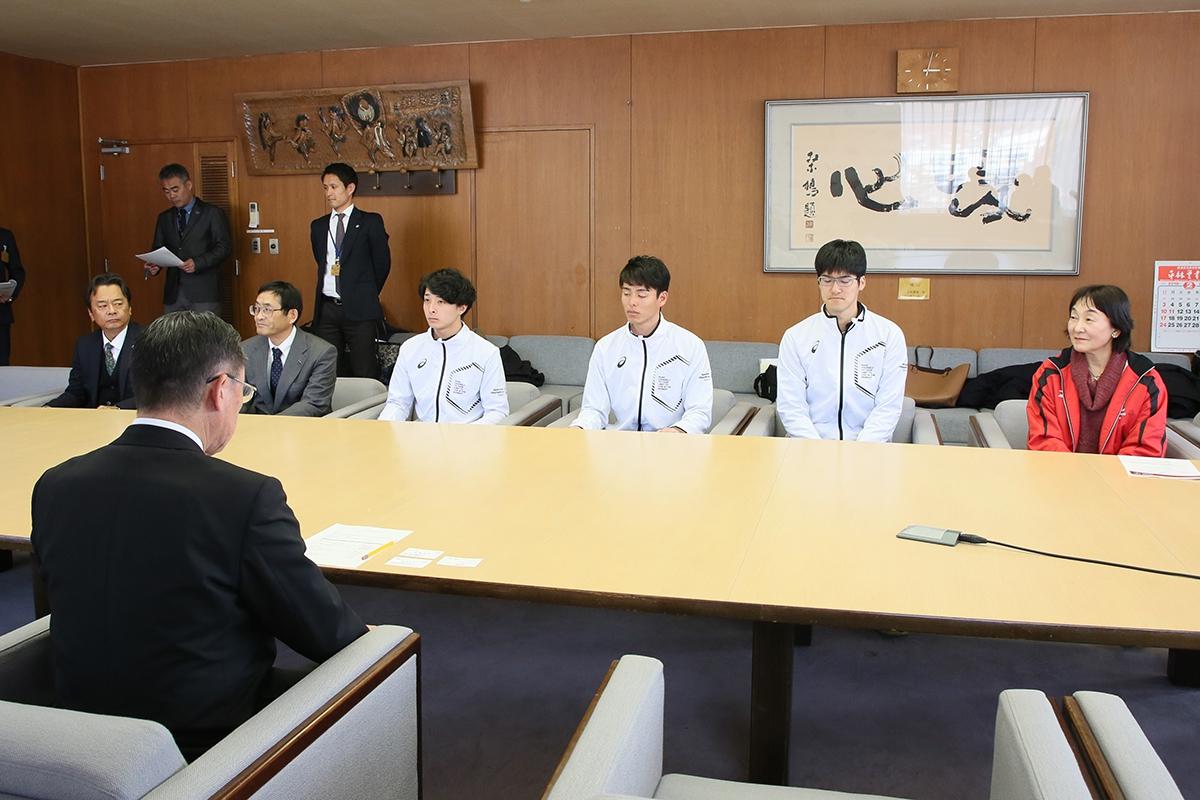 2月14日 上田市訪問