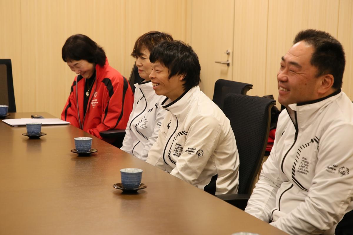 2月18日 中野市出身の春原コーチ 山本コーチ 翔君が訪問