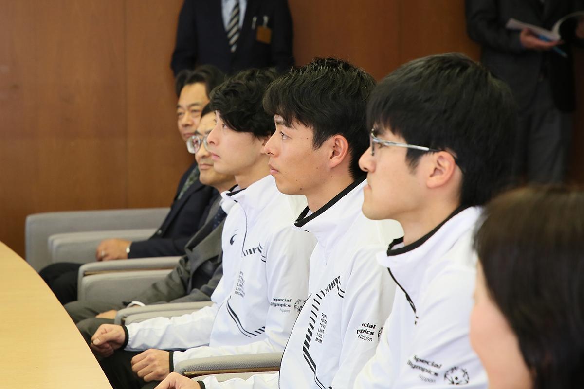 2月14日 上田市訪問 パートナーはいつになく緊張の面持ちです
