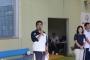 茅野市長は泳ぎも披露。会場となった北部中学校の卒業生だそうです。